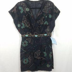 Nanette Lepore Beaded Black Cocktail Dress 6